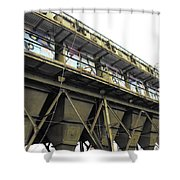 Quintuple Industrial Repeat Shower Curtain
