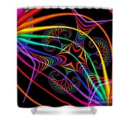 Quite In Different Colors -3- Shower Curtain