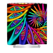 Quite In Different Colors -4- Shower Curtain