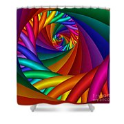Quite In Different Colors -6- Shower Curtain