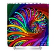 Quite In Different Colors -7- Shower Curtain