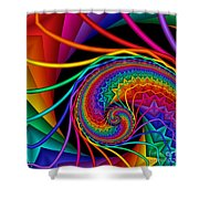 Quite In Different Colors -9- Shower Curtain
