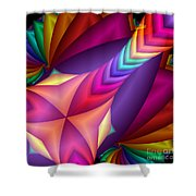 Quite In Different Colours -15- Shower Curtain