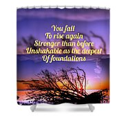 Quote4 Shower Curtain