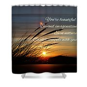 Quote5 Shower Curtain