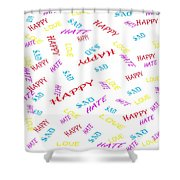 Quoted Emotions Shower Curtain