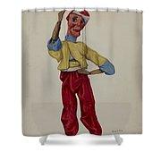 """""""sinbad"""" Marionette Shower Curtain"""