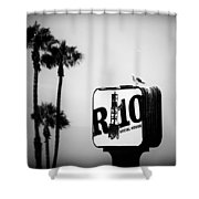 R-10 Social House Shower Curtain by Michael Hope