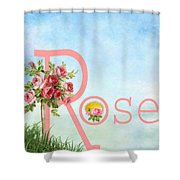 R For Rose Shower Curtain