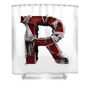 R Is Rock N Roll Shower Curtain