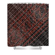 R-n W B  -  Red Netwireblast Shower Curtain