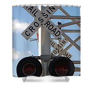 R X R Crossing Shower Curtain