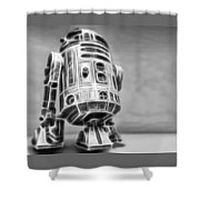 R2 Feeling Lonely Shower Curtain