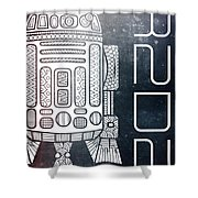 R2d2 - Star Wars Art - Space Shower Curtain