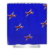 Raaf Roullettes Flying Across North Head Sydney Shower Curtain