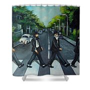 Rabbi Road Shower Curtain