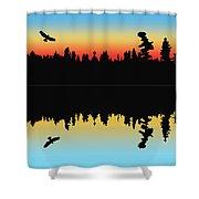 Rabbit Blanket Lake Shower Curtain