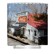 Rabbit Hash Store-front View Angle Shower Curtain