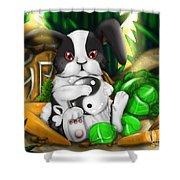 Rabbit In Chinese Zodiac Shower Curtain