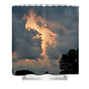 Rabbit In The Sky Shower Curtain
