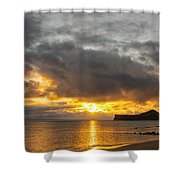 Rabbit Island Sunrise - Oahu Hawaii Shower Curtain by Brian Harig
