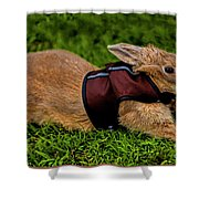 Rabbit With Vest Shower Curtain