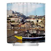 Rabelo Boats On River Douro In Porto 02 Shower Curtain