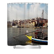 Rabelo Boats On River Douro In Porto 03 Shower Curtain