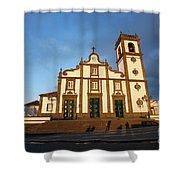 Rabo De Peixe Church Shower Curtain