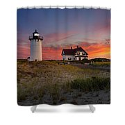 Race Point Light Sunset 2015 Shower Curtain