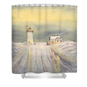 Race Point Lighthouse Provincetown Shower Curtain