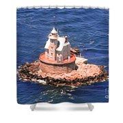 Race Rock Lighthouse Shower Curtain