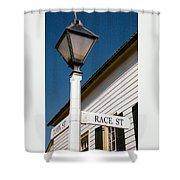 Race St Old Salem Shower Curtain