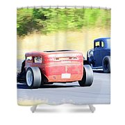 Race Track Relics Shower Curtain