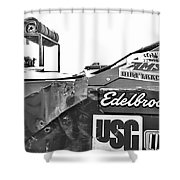 Racecar Junk Shower Curtain