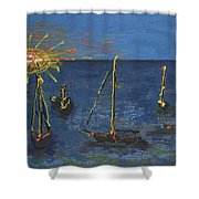 Raceday Sunrise Shower Curtain