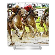 Racetrack Dreams 11 Shower Curtain