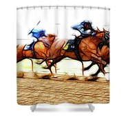 Racetrack Dreams 7 Shower Curtain