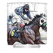 Racetrack Dreams 8 Shower Curtain