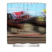 Racetrack Dreams  Shower Curtain