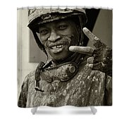 Racetrack Heroes 1 Shower Curtain