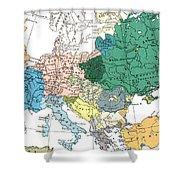 Racial Map Of Europe Circa 1923 Shower Curtain