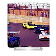 Racing At Laguna Seca Shower Curtain