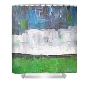 Racing Clouds Shower Curtain