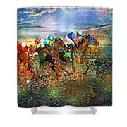 Racing Energy II Shower Curtain