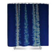 Racing For The Moon Shower Curtain
