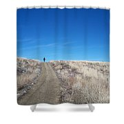 Racing Over The Horizon Shower Curtain