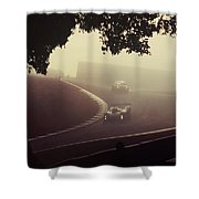 Racing The Fog Shower Curtain