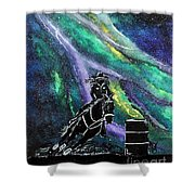 Racing Though The Sky Shower Curtain