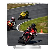 Racing Through Turn 11 Shower Curtain